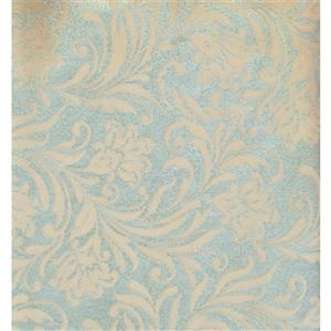 York Wallcoverings Damask Traditional Wallpaper - Green/Beige