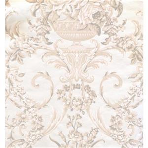 York Wallcoverings Damask Traditional Wallpaper - Cream/Beige