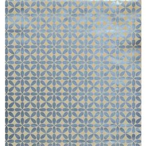 York Wallcoverings Abstract - Modern Color Beige, Blue Wallpaper Roll