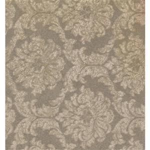 York Wallcoverings Damask Traditional Wallpaper - Brown/Beige