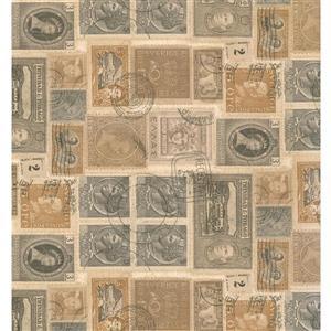 York Wallcoverings Abstract Modern Wallpaper - Beige/Grey