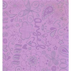 York Wallcoverings Abstract Modern Wallpaper - Violet