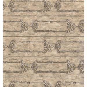 York Wallcoverings Abstract Modern Wallpaper - Cream/Grey