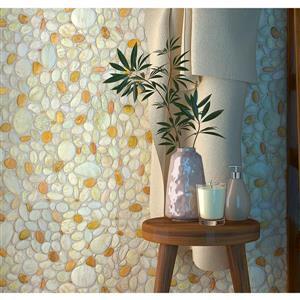 "Retro Art 3D Retro Wall Panel - PVC - 39"" x 25"" - Pearl, Brown"