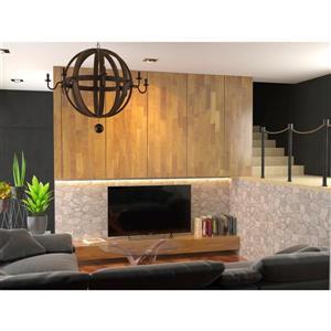 "Retro Art 3D Retro Wall Panel - PVC - 39"" x 25"" - Grey"