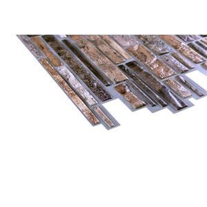 "Retro Art 3D Retro Wall Panel - PVC - 38"" x 19"" - Brown"