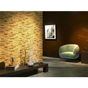 "Retro Art 3D Retro Wall Panel - PVC - 37"" x 19"" - Beige, Light Brown"