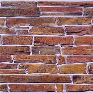 "Retro Art 3D Retro Wall Panel - PVC - 38"" x 19.5"" - Brown"