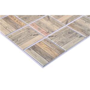 "Retro Art 3D Retro Wall Panel - PVC - 38"" x 16"" - Brown Grey"