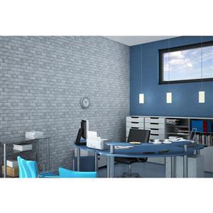 "Retro Art 3D Retro Wall Panel - PVC - 38"" x 19"" - Old Grey"