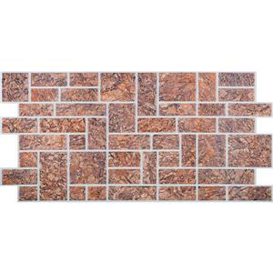 "Retro Art 3D Retro Wall Panel - PVC - 39"" x 19.5"" - Brown Ornamental"