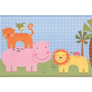 York Wallcoverings Kids Cartoon Animal Wallpaper