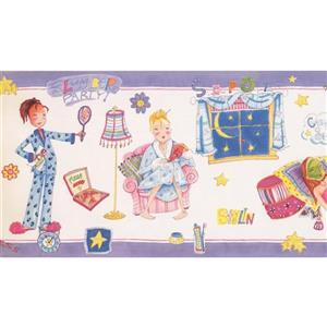Retro Art Girls Purple Wallpaper