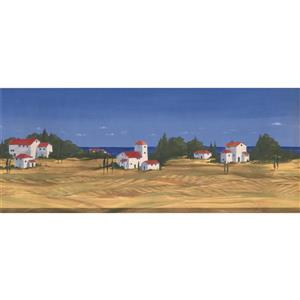 Retro Art Sandy Beach Wallpaper