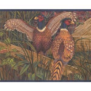 Retro Art Pheasants Wallpaper Border