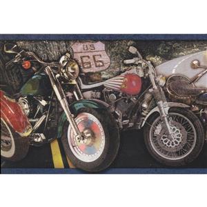 Retro Art Vintage Motorcycle Wallpaper Border