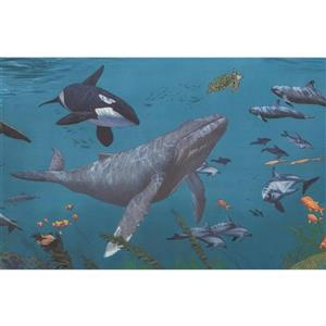 Retro Art Underwater Nature Wallpaper Border