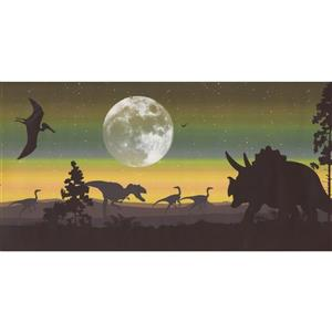 Retro Art Dinosaur Extra Wide Wallpaper