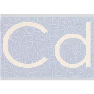Retro Art Classic Alphabet Wallpaper Border - Teal
