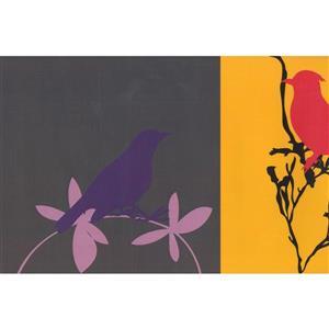 Retro Art Modern Bird Abstract Wallpaper Border