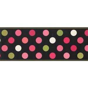 Retro Art Polka Dot Wallpaper - Pink