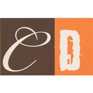 Retro Art Vintage Alphabet Wallpaper - Orange