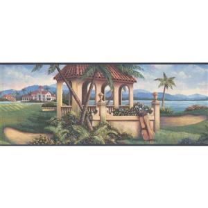 Retro Art Golf Course Wallpaper - Multicoloured