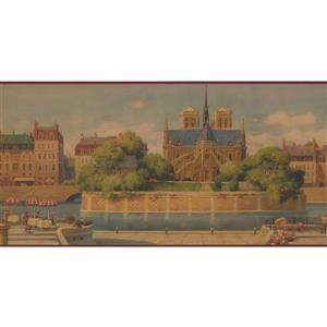 Retro Art Vintage European City Wallpaper