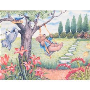 Retro Art Teddy Bear Wallpaper