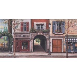 Retro Art Vintage French Street Wallpaper Border