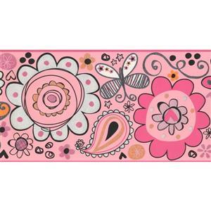 York Wallcoverings Kids Floral Wallpaper Border - Pink