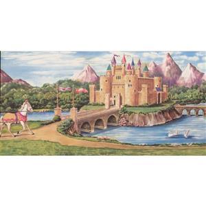 Retro Art Catroon Castle Wallpaper