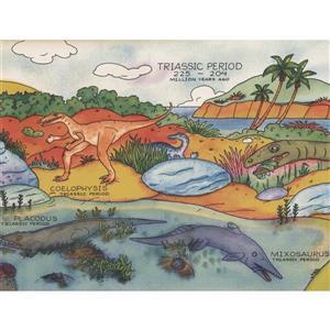 Retro Art Dinosaur Species Wallpaper