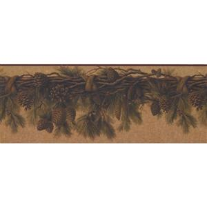 Retro Art Pine Cones Wallpaper