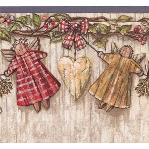 Retro Art Angels and Heart Wallpaper