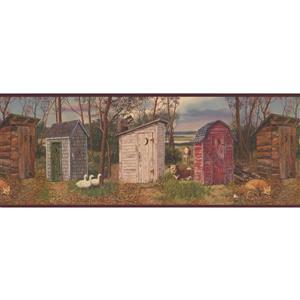 Retro Art Village Restrooms Wallpaper