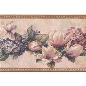 Retro Art Floral Wallpaper Border