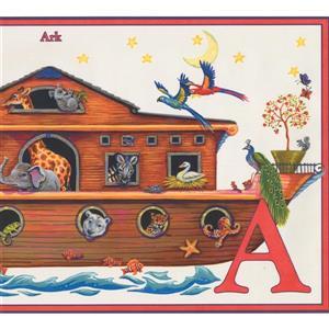Retro Art Alphabet and Animal Wallpaper