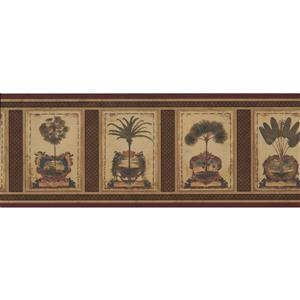 Retro Art Vintage Palm Tree Wallpaper Border