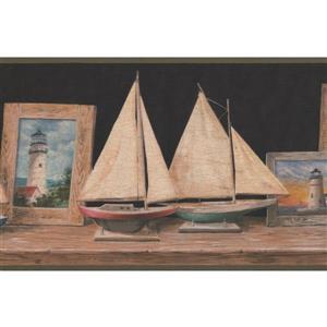 Retro Art Sailboats Wallpaper - Beige