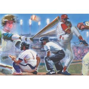 Retro Art Vintage Baseball Players Wallpaper