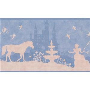 York Wallcoverings Princess Castle and Horse Wallpaper Border - Blue