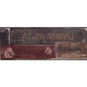 York Wallcoverings Vintage Pirate Signs Wallpaper