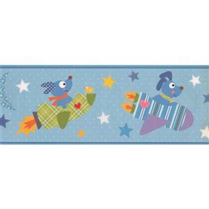 York Wallcoverings Kids Cartoon Dog Rocket Wallpaper Border