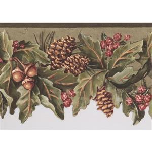 York Wallcoverings Pine Cones and Acorns Wallpaper