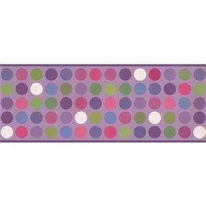 Retro Art Colourful CirclesWallpaper Border - Purple