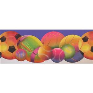 Retro Art Colourful Sports Wallpaper  - Purple