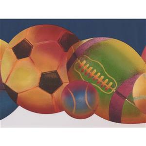 Retro Art Colorful Sports Wallpaper - Blue