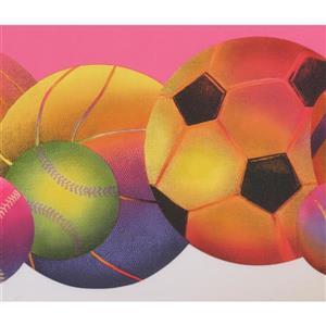 Retro Art Colorful Sports Wallpaper - Pink