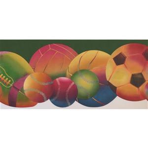 Retro Art Colorful Sports Wallpaper - Green